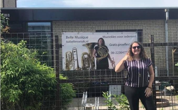 De muziek- en lesstudio van Isabelle Roelofs